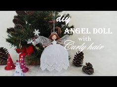DIY How to Make Curly Hair for an Angel Doll | Thiên thần tóc xoăn | Huong Harmon - YouTube Christmas Angel Ornaments, Christmas Fairy, Christmas Tree Toppers, Christmas Decorations, Holiday Decor, Diy Angel Dolls, Fairy Dolls, Diy Doll, Diy Angels