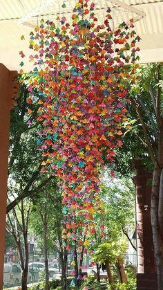 Amazing egg carton chandelier
