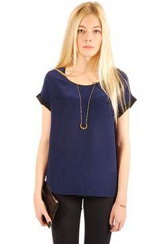 Shoptiques — Sheer Short-Sleeve Top
