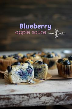 Coconut Flour Blueberry Apple Sauce Muffins, coconutalmondrecipes.com
