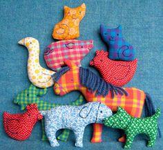 Big Farm Set - Little Softies sewing pattern. $14.00, via Etsy.