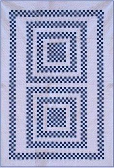 "Navy Checkerboard quilt, 55 x 81"",  pattern by Geoff's Mom"
