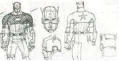 Captain America by John Romita Jr. [ Marvel NOW!] Updated with full body sketch/color Marvel Now, Marvel Comics, John Romita Jr, Body Sketches, Character Modeling, Captain America, Concept Art, Character Design, Hero