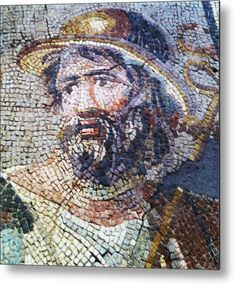 Roman Mosaic Metal Print by Paul Washington . All metal prints are professionally printed, packaged, and shipped within 3 - 4 business days and delivered ready-to-hang on your wall. Choose from multiple sizes and mounting options.