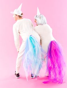 This DIY Unicorn Couples Costume Is #GOALS via Brit + Co