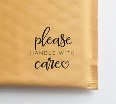 Please Handle With Care Stamp for Packaging by HelloWorldStamps