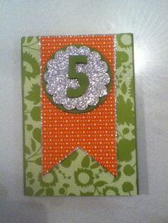 Stampin up 5th birthday card