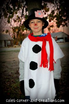 No sew snowman costume for kids awesome love this simple snowman how to make frosty snowman costume use white tee shirts solutioingenieria Image collections