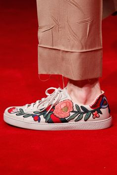 Gucci embroidered sneakers Fall 2016