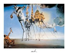 Salvador Dali The Temptation of St. Anthony painting for sale - Salvador Dali The Temptation of St. Anthony is handmade art reproduction; You can shop Salvador Dali The Temptation of St. Anthony painting on canvas or frame. L'art Salvador Dali, Salvador Dali Paintings, Dali Prints, Temptation Of St Anthony, Illusion Paintings, Art Moderne, Henri Matisse, Surreal Art, Les Oeuvres