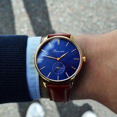 Navona Blue/G (41 mm) on the wrist - www.bonvier.com #bonvier #watches #orologi