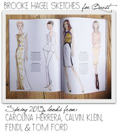 Brooke Hagel: Quest Magazine Fashion Illustration Editorial