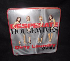Desperate Housewives Dirty Laundry Game in Tin 9517 Cardinal 2005 TV Show #Cardinal