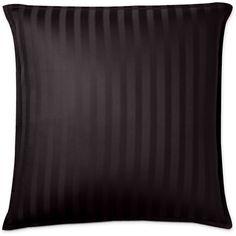 Royal Velvet Damask Stripe Euro Pillow (150 SAR) ❤ liked on Polyvore featuring home, bed & bath, bedding, bed pillows, european bed pillows, euro bed pillows and royal velvet