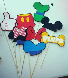Mickey Mouse y Minnie Mouse Foto por KellysPartyKreations en Etsy