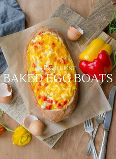 Make 5 Ingredient Baked Egg Boats for Breakfast. Such a genius idea and SO easy!
