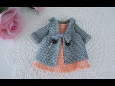 Thanks so much !! written doll crochet pattern : https://www.etsy.com/listing/631751902/doll-body-crochet-pattern-with-wire-doll https://suwannascraft.blogsp... Crochet With Cotton Yarn, Crochet Yarn, Crochet Needles, Crochet Doll Dress, Crochet Clothes, Sewing Toys, Doll Patterns, Crochet Patterns, Barbie