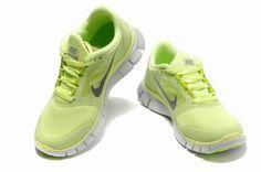 Vendre Pas Cher Femme Nike Free Run 3 Lumiere Verte en ligne dans France - VendreFree.com