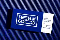 FEELMGOOD business card — soon the whole corporate identity of the filmmaker duo based in Milan #hotoffthepress #corporateidentity #kleinblue