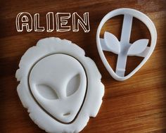 Alien and UFO cookie cutters  biscuit dough cutter  by Made3D