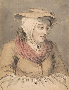 Louis Philippe Boitard, 1738-1763 A Fisherwoman, Hands under Apron