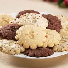 Lemon, Traditional, Pecan & Chocolate sugar free shortbread; 24 cookies in gift tin.