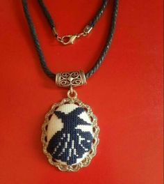 This Pin was discovered by Mtm Minis, Handmade Accessories, Islamic Art, Handmade Necklaces, Anniversary Gifts, Cross Stitch Patterns, Pendant Necklace, Embroidery, Beads