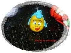 Flounder -polymer clay-