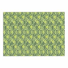 KESS InHouse Holly Helgeson 'Pod Perfect' Green Patttern Dog Place Mat, 13' x 18' -- Review more details here : Dog food container