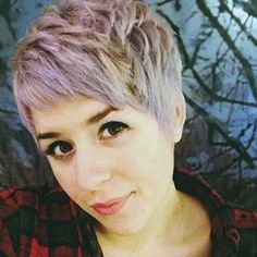 pixie cut with color streaks - Google Search