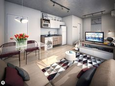 Http Www Home Designing Com 2015 12 Small Studio Apartmentsmodern