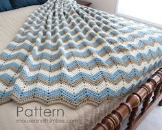 Bed Topper Easy Crochet Blanket Pattern Seaside Afghan 4