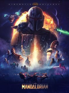 Star Wars is an American epic space opera franchise, created by George Lucas and centered around a film series that began with the eponymous Star Wars Fan Art, Affiche Star Trek, Star Wars Poster, Images Star Wars, Star Wars Pictures, Star Wars Clone Wars, Scarlet Witch, Tableau Star Wars, Mandalorian Poster