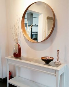 Beautiful & simple entryway – Ikea 'Stockholm' mirror & 'Liatorp'… - All About Decoration Hall Table Ikea, Entryway Table Ikea, Table Console Ikea, Narrow Hall Table, Ikea Hallway, Ikea Side Table, Entrance Table, Table Furniture, Furniture Design