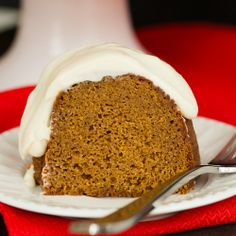 Gingerbread Bundt Cake with Cream Cheese Icing | Brown Eyed Baker