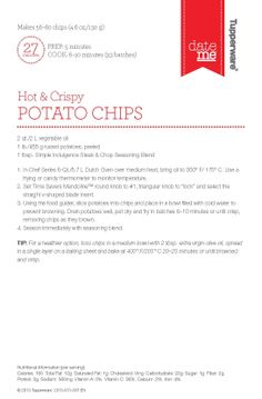 Potato Chips www.my2.tupperware.com/mlhaney