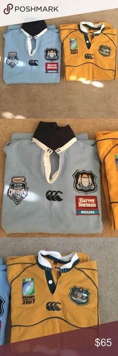 Rugby jersey bundle - game worn jersey! One Australian World Cup 2007 replica jersey. One New South Wales professional game worn jersey!!!! Shirts