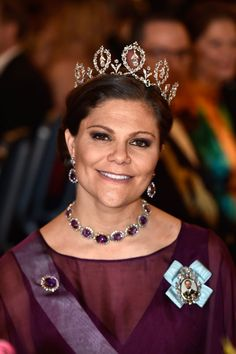 Pin for Later: The 1 Accessory Power Women Rarely Wear A Jeweled Collar Necklace? Princess Victoria Is Down
