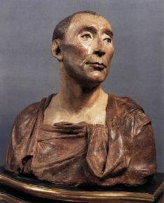 Bust of Niccolo da Uzzano - Donatello.  1430s.  Polychrome terracotta.  H: 46 cm.  Museo Nazionale del Bargello, Florence, Italy.