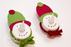 _DSC8697 Stampin Up Weihnachten Teelichter Punch Art Christmas Snowman Schneemann _