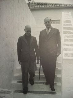 The Colossus of Maroussi, Henry Miller and Katsibalis in the island of Hydra, Greece circa November 1939.