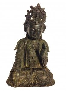 BRONZE FIGURE OF BUDDHA MING DYNASTY  height 21 cm. weight 1.910kg  - See more at: http://www.asiakingart.com/?p=639#sthash.SF8NwRwC.dpuf