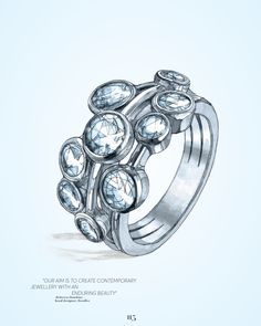 The Boodles classic 'Raindance' ring. (Illustration by Emma Kelly for The Compendium by Centurion / © Journal International 2015).