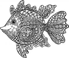exotic fish coloring page - Free Coloring Pages For Adults