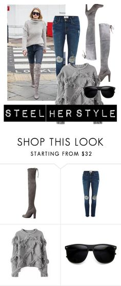 Designer Clothes, Shoes & Bags for Women Fashion Women, Women's Fashion, Frame Denim, Her Style, Stuart Weitzman, Collages, Women's Clothing, Skinny Jeans, Steel