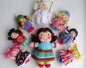 TILLY goes to school - knitted toy doll - PDF email knitting pattern. $4.95, via Etsy.