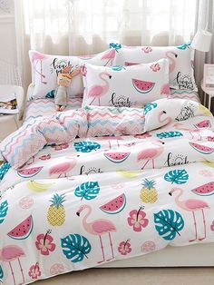 Cheap Kids Bedroom Furniture Sets For Girls Kids Bedroom Furniture, Bedroom Decor, Bedroom Rustic, Simple Bed, Bed Linen Design, Luxury Bedding Sets, Cool Beds, Bed Covers, Comforter Sets