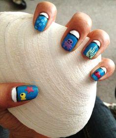 a friend's adorable aquarium nails!