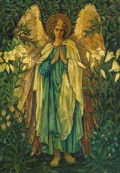 Circle of Sir Edward Burne-Jones: Archangel Gabriel