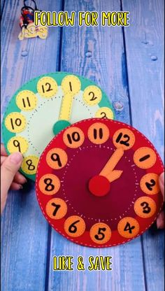 Diy Crafts For Kids Easy, Paper Plate Crafts For Kids, Diy Crafts For Gifts, Craft Activities For Kids, Creative Crafts, Preschool Crafts, Fun Crafts, Clock For Kids, Clock Learning For Kids